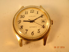 BIG NUMBER 25 JEWEL JUBILEE  AUTOMATIC DATE WATCH RUNS FOR RESTORATION