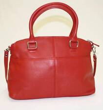 NWT Calvin Klein  MODENA H2GDA844 Handbag Pocket Sachel Bag Pebble Leather RED
