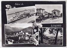 80158 SAVONA LOANO - SALUTI da... VEDUTINE - BAGNI SAITA Cartolina FOT viag 1956