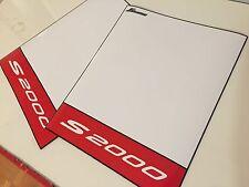 J's Racing Style Track MAGNET Plates Jdm HONDA S2000 Red White S2K S 2000