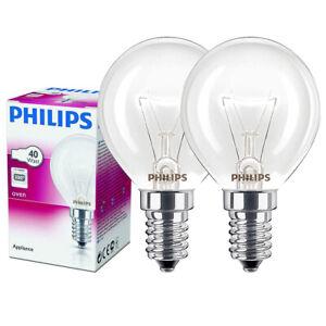 2x 40w Philips Oven Bulb Cooker Bulb A8297 300° For Bosch Neff Siemens Tecnik