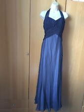 Fab Coast Maxi Dress With Halter Neck Ties Size 16 100% Silk