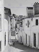 VINTAGE PHOTO CITYSCAPE STREET PORTALEGRE PORTUGAL POSTER ART PRINT BB12298B
