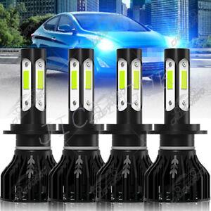 For Hyundai Tiburon 2003-2006 4x 8000K Ice Blue LED Headlight High Low Beam Bulb