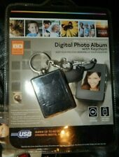 Digital Photo Album Key Chain NIB 8Mb USB Rechargeable PC/MAC Black