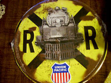 "UNION PACIFIC RAILROAD CROSSING METAL SIGN 12"" DIAMETER - BRAND NEW!"