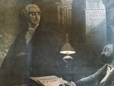 1861 CIVIL WAR poster w GEORGE WASHINGTON  Looking with Distain at Secessionist