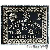"OUIJA BOARD ALTAR CLOTH 24x30"" Black Gold Wiccan Witch Ritual Supplies"