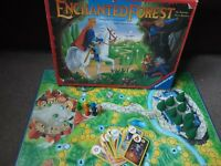 🎲 Vintage Enchanted Forest - Board Game  ** 2 cards and 4 trees  missing**