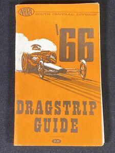 Vintage 1966 NHRA Dragstrip Guide Car Drag Racing South Central Division