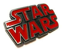 Original STAR WARS metal logo belt buckle NEW design red Pewter color Cosplay