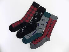 CLUB ROOM $44 Black 4-PAIRS SHOE SIZE 7-12 MEN'S Casual Crew SOCKS GRAY RED Y14