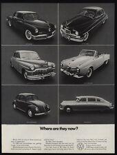 1970 1949 VOLKSWAGEN BEETLE Vs TUCKER - PACKARD - DESOTO - STUDEBAKER VINTAGE AD