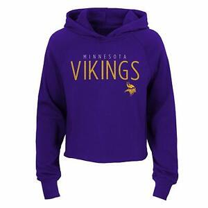 Outerstuff NFL Football Girls Minnesota Vikings Iced Out Long Sleeve Hoodie