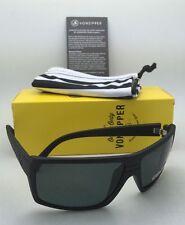 Polarized VONZIPPER Sunglasses VZ SNARK Black Satin Frame w/WildLife Grey Lenses