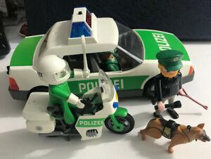 playmobil polizei Auto-Helikopter-Motorrad-Figuren