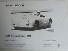 1/24 Völkl Classic Cars Porsche 356 American Roadster 1952 Static Kit  Neu