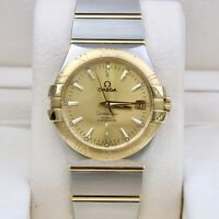 Omega Constellation Steel & Gold - Champagne - Co-Axial 38mm 123.20.38.21.08.001