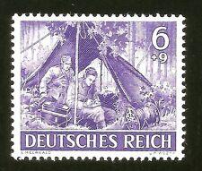 1943 WWII Nazi Germany Mint Original War Propaganda Stamp SS Paratroppers Radio