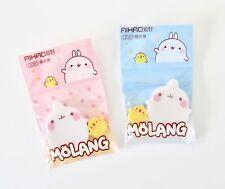 Molang podgy potato rabbit and Piu Piu baby chick set of rubbers erasers