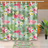 Tropical Flamingo Shower Curtain Bedroom Waterproof Fabric & 12hooks 180*180CM