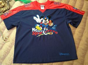 Disneyland Resort Youth Blue Mickey Mouse Football Jersey   Youth XL