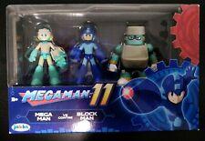 "MegaMan 11 Action Figure Set Mega Man vs Block Man 2.5"" - Jakks pacific - CLEAN!"