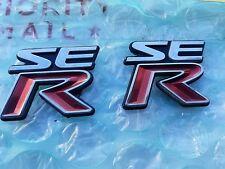 02 03 04 05 06 Nissan Sentra SE-R Spec V Fender Door Emblem Logo OEM SER Badge