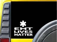 EMT Lives Matter Sticker k108 6 inch ambulance decal