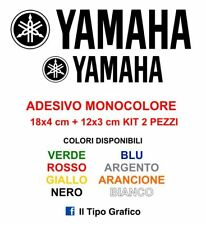 2 Adesivi Yamaha Moto Stickers Decals KIT COLORI A SCELTA Cross 18 12 cm logo