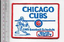 Beer Baseball Chicago Cubs & Bud Light Beer 1983 National League Promo Patch