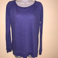Victoria's Secret Pink Long Sleeve Knit Tee Shirt Top S Purple Lounge Comfy