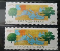 Lebanon & France 2008 MNH stamps - FRANCE-LEBANON RELATIONS - Joint Issue