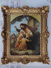 Gemälde Jesus Maria Ikonen Repro BAROCK Antik look 56x46 cm Religiöse Bilder 36