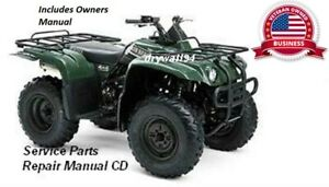 2000-2004 Yamaha BigBear YFM400 2x4 OEM Owners Manual/Service&Repair Manual CD
