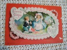 Vtg 1920s Postcard Valentine Loves Greeting Boy Proposing to Girl Card Wolf & Co
