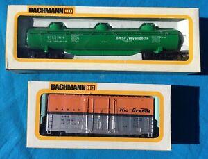 "1980's Vintage BACHMANN  HO scale Dome tank car & 41"" Hi Cube, Boxed x2."