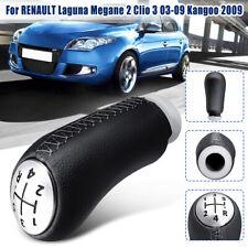 5 Speed Gear Knob Shift PU Leather For Renault Laguna Megane 2 Clio 3 03-09