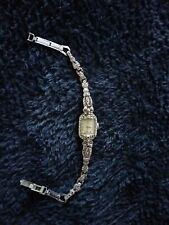 Vintage Pierpont 15 Jewels . Swiss Made Marcasite Ladies Watch. In Working...