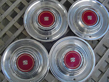 1980 1981 CADILLAC CADY FLEETWOOD DEVILLE  HUBCAPS WHEEL COVERS ANTIQUE VINTAGE