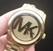 NEW OLD STOCK MICHAEL KORS RUNWAY MK5473 GOLD PLATED QUARTZ WOMEN WATCH
