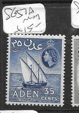 ADEN (P0704B) QEII  35C SAIL BOAT SG 57A  MOG