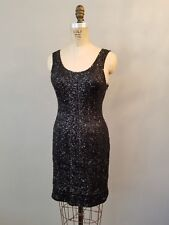 Black Sequin Sparkle Cocktail Dress Womens Sz Small Without Tags