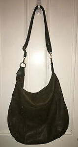 Dasein Women's Large Olive Green Hobo Bag Stylish Faux Leather Shoulder Purse
