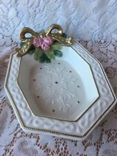 Fitz And Floyd Decorative Dish With Roses & Ribbon, Bowl 11�