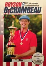 BRYSON DECHAMBEAU SUPER RARE AUTOGRAPH OVER-SIZED GOLF CARD AUTO SIGNED US OPEN