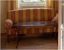 Klassisches, schönes Sofa zum Zusammenstecken gelb orange gestreift, Stecksofa