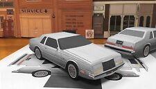 PaperCraft Chrysler Imperial EZU-make paper model car 1981-1983 Silver Crystal