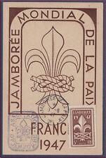 FRANCE N°787 CARTE MAXIMUM 1947 Jamboree Scoutisme scouts  Maxi Card