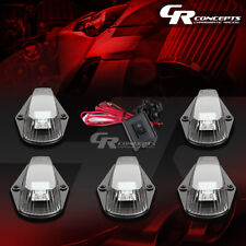 5-PIECE BLACK WHITE LED ROOF TOP LIGHTS+SWITCH SET FOR 80-96 F150-F450 TRUCK